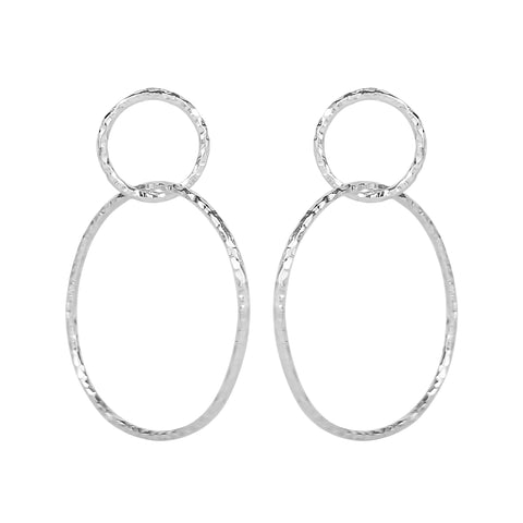 vlmjewelry.com | Silver Eternal Hoop Earrings | Atmosphaera Collection | Handmade Jewelry