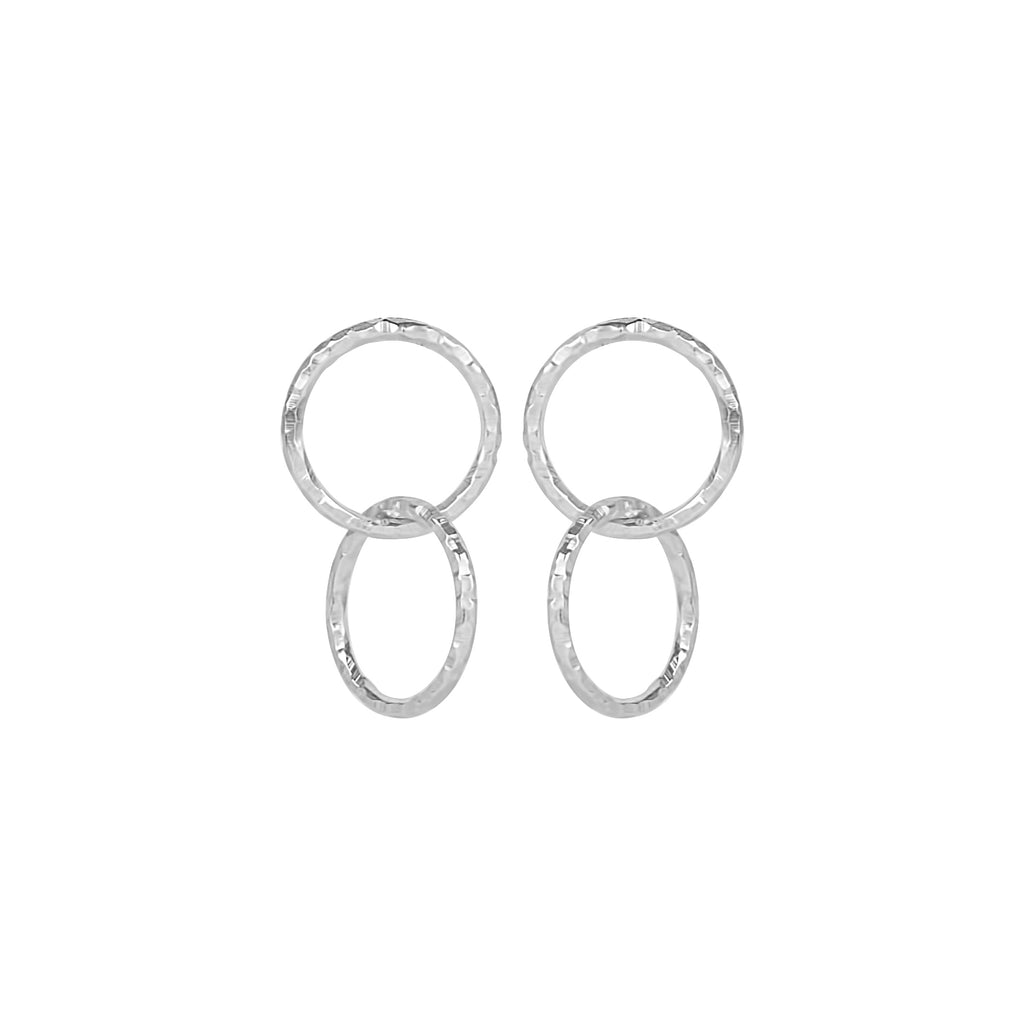 vlmjewelry.com | Silver Petite Eternal Hoop Earrings | Atmosphaera Collection | Handmade Jewelry