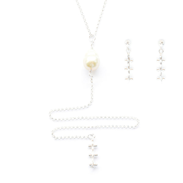Vaitiare Gift Set - Sterling Silver w/ Golden South Sea Pearl