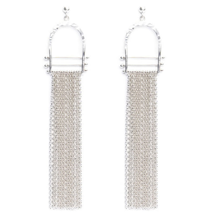 Sterling Silver Fringe Earrings Los Angeles Jewelry Designer