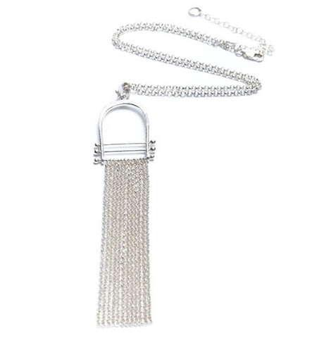 Sterling Silver Fringe Necklace Los Angeles Jewelry Designer