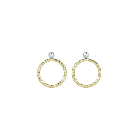 vlmjewelry.com | Two Tone Origin Hoop Earrings | Atmosphaera Collection | Handmade Jewelry
