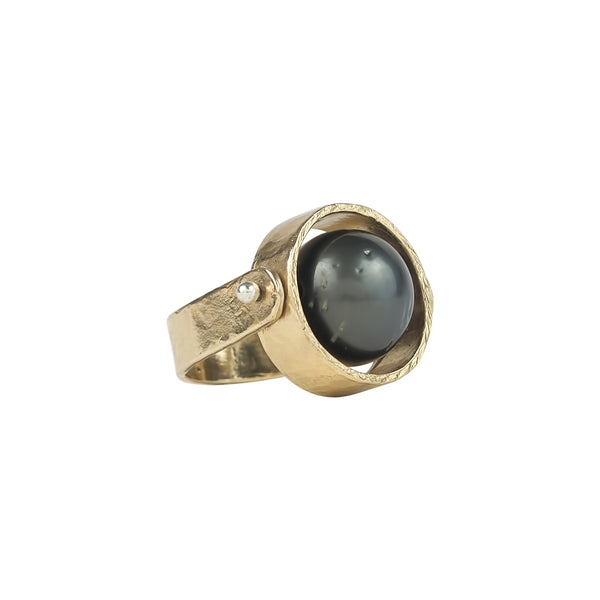 vlmjewelry.com | Gold | Tahitian Pearl Ring | Handmade in Los Angeles
