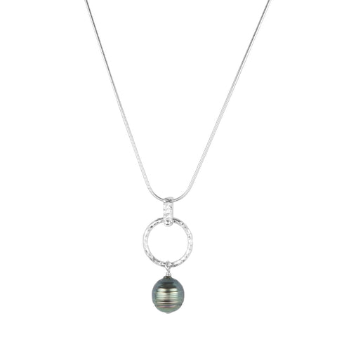 vlmjewelry.com | Sterling Silver | Tahitian Pearl Necklace | Handmade in Los Angeles