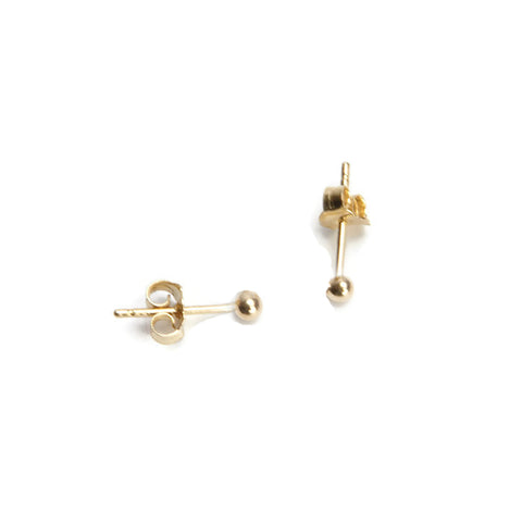 Sphere Studs - 14k Gold