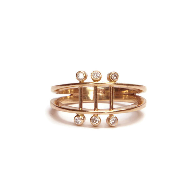 Diamond Parallel Ring