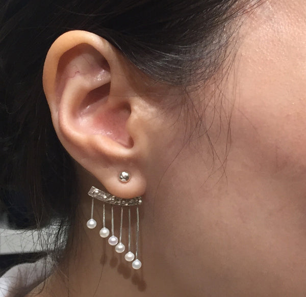 Pearl Chime Ear Jacket - Sterling Silver