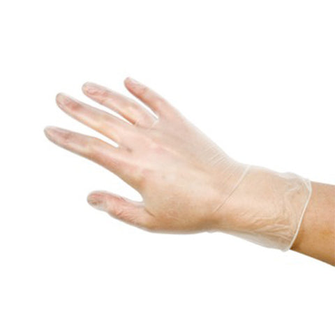 DISPOSABLE VINYL GLOVES Medium - CODE DIS014B
