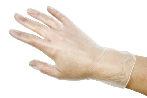 DISPOSABLE VINYL GLOVES Small - CODE DIS014a