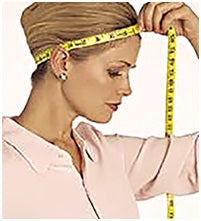 Image result for wig sizes