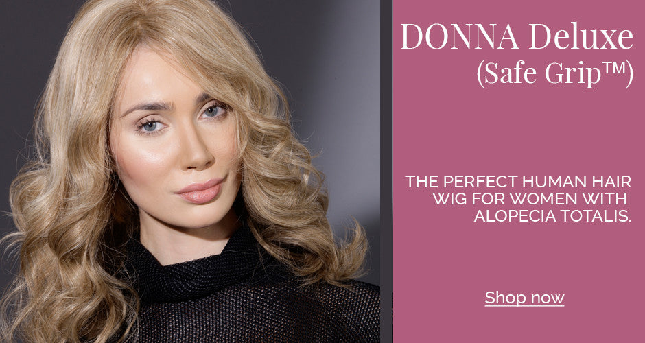 BERGMANN - DONNA (SafeGrip) Human Hair wig ideal for Alopecia Totalis