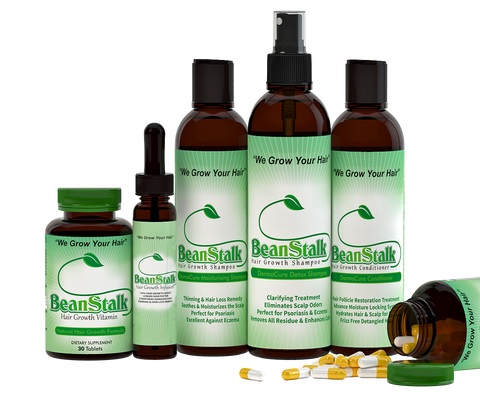 VITAMINS ON BACKORDER BeanStalk Oil Infusion, Hair Growth Vitamins & Shampoo System