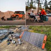 Enjoy a camping party or outdoor explorer with Jackery Solar Generator.