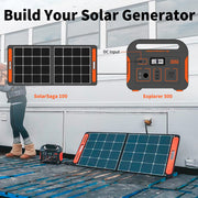 Jackery Solar Generator is made up of a Explorer 500 and a SolarSaga 100