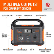 Jackery explorer 1000 power station can power 90% outdoor devices.