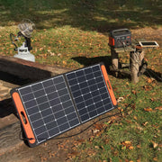 Explorer 500 can be quickly recharged within 8 hours by connecting SolarSaga 100W solar panel.