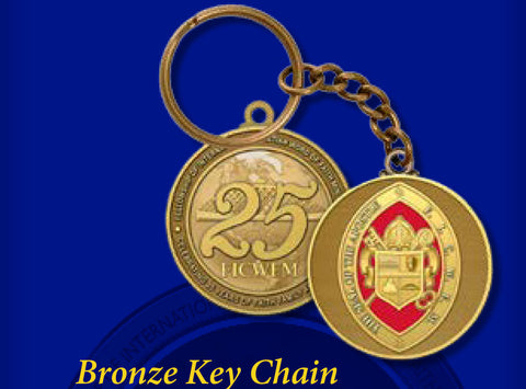 Bronze 25th Anniversary Keychain