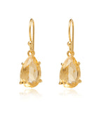 Citrine, Earring, Pear, Gold, Kerry, Rocks, Jewellery