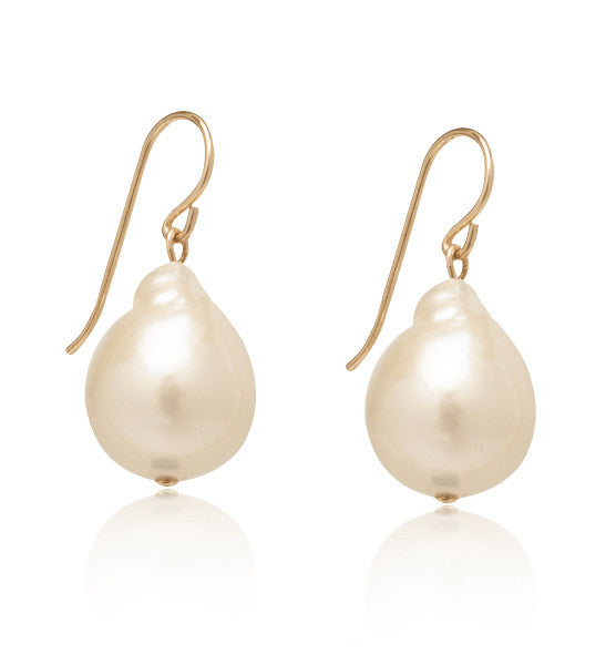 Baroque, Freshwater, Pearl, Earring, Gold, Kerry, Rocks
