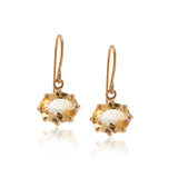 Marie Earring, Citrine, Gold