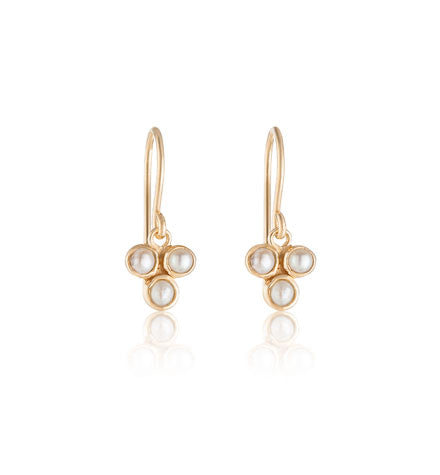 Clover, Earring, Pearl, Gold, Kerry, Rocks, Jewellery, Jewelry