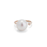 Pearl Cuff Ring, Diamond, 9kt Yellow Gold