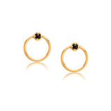 Door Knocker Studs, Black Onyx, Gold