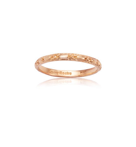 Embossed Band, 9kt Rose Gold