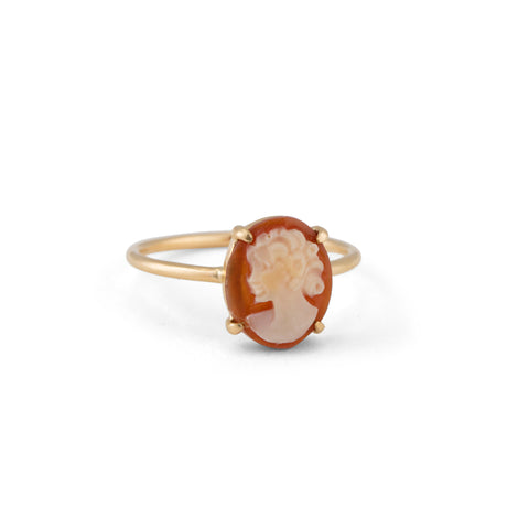 Cameo Ring, 9kt Yellow Gold