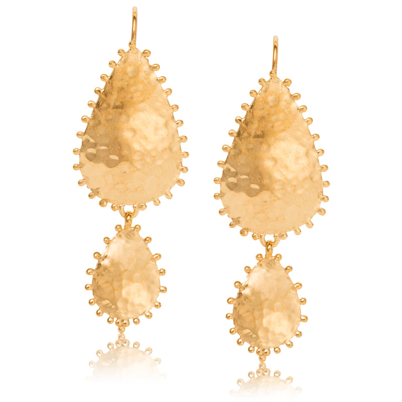 Soleil Duo Earring, Gold