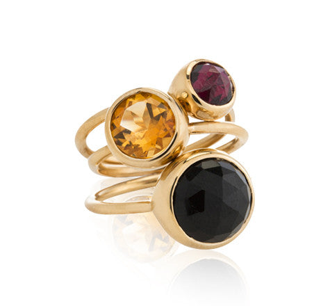 Gem, Stack, Rings, Gold, Kerry, Rocks, Jewellery