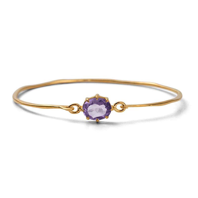 Marie Bangle, Amethyst, Gold