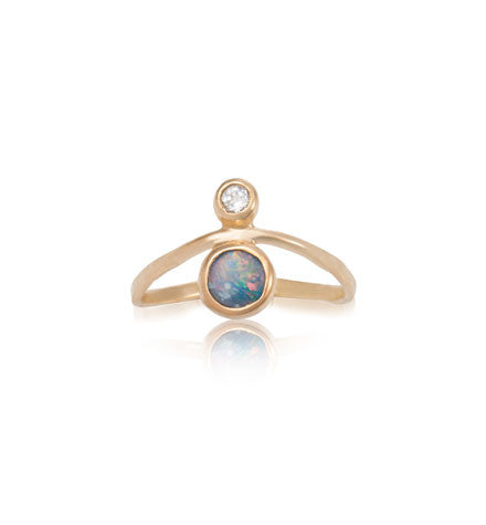 Opal, Curved, Ring, Gold, Kerry, Rocks, Jewellery