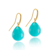 Balloon Earring, Amazonite, 9kt Gold