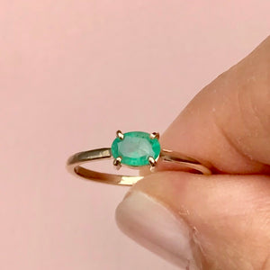 Isla Ring, Emerald, 9kt Yellow Gold