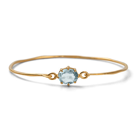 Marie Bangle, Blue Topaz, Gold