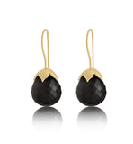 Bulb, Earring, Black, Onyx, Gold,Kerry, Rocks, Jewellery