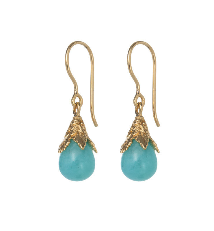 Cherise Earring, Amazonite, Gold