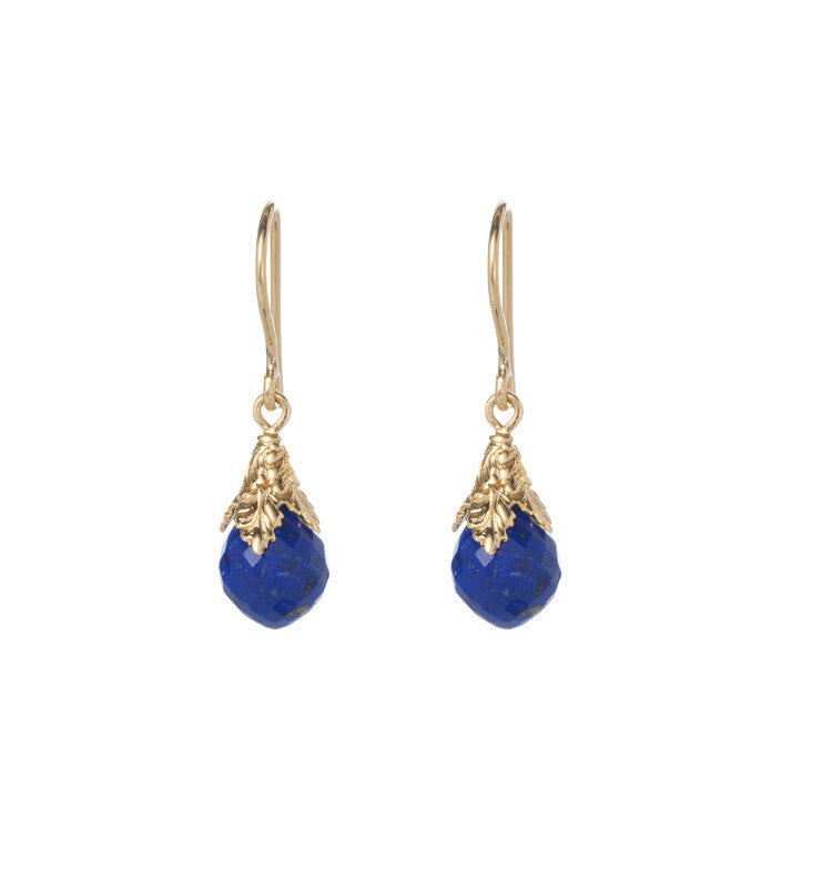 Lapis, Lazuli, carved, earrings, gold, Kerry, Rocks, jewellery