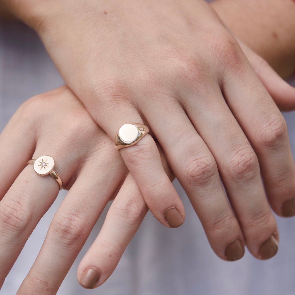 Signet Pinkie Ring, 9kt Yellow Gold