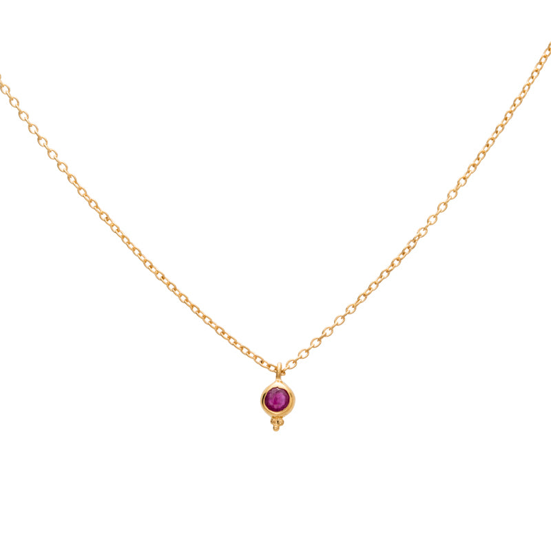 Delphi Necklace, Ruby, Gold