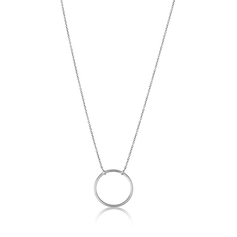 Eclipse Necklace, Silver