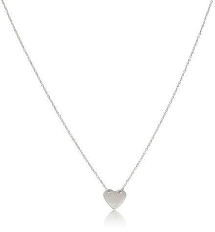 Fine Heart Necklace, Silver