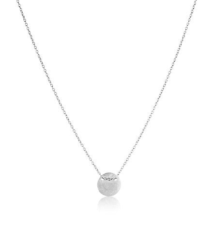 Fine Disc Necklace, Silver