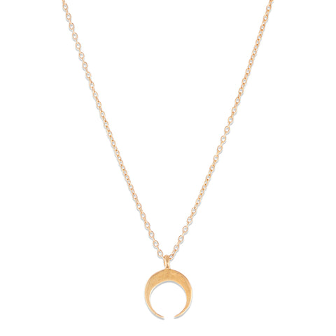 Fine Tusk Necklace, 9kt Gold