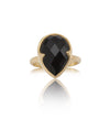 Gemma Ring, Black Onyx, Gold