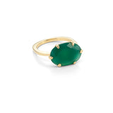 Gigi Ring, Green Onyx, Gold