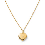 Heart Diamond Locket, Gold