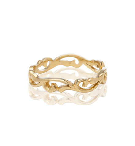 Holly Band, 9kt Yellow Gold