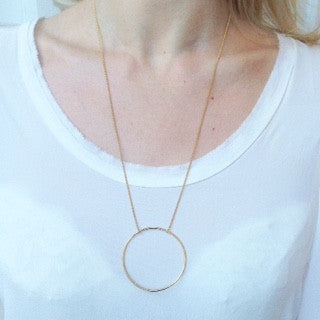 Eclipse Necklace, Large, Gold